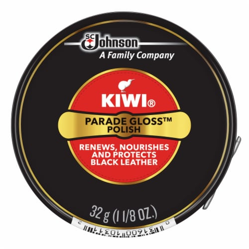 Kiwi Parade Gloss Shoe Polish - Black Perspective: front