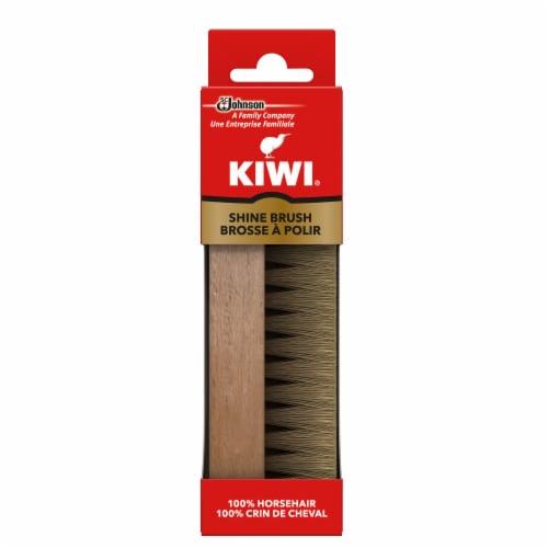 KIWI® Horse Hair Shoe Shine Brush - Natural Perspective: front
