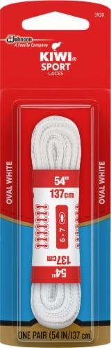 Kiwi White Sport 54'' Shoelaces Perspective: front