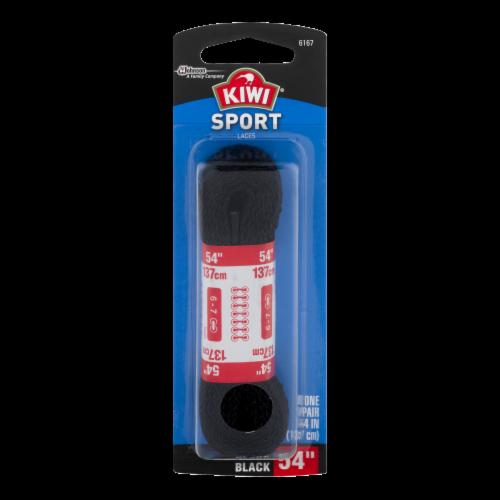 KIWI® Sport Flat Shoe Laces - Black Perspective: front