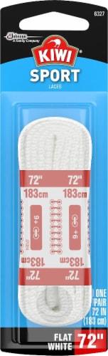 Kiwi Sport Flat Shoe Laces - White Perspective: front