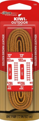 Kiwi Leather Rawhide Laces - Golden Brown Perspective: front
