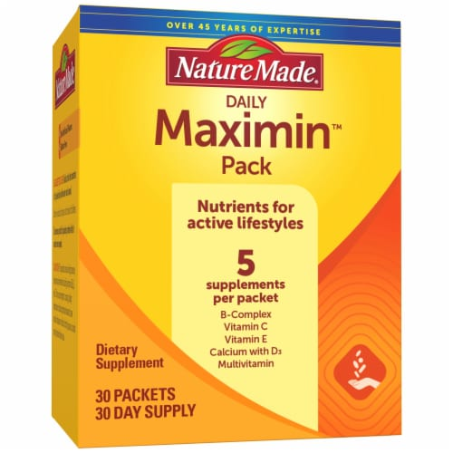 Nature Made Daily Maximin Supplement Packets Perspective: front