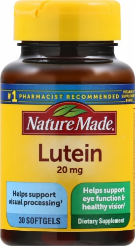 Nature Made Lutein 20 mg Softgels Perspective: front