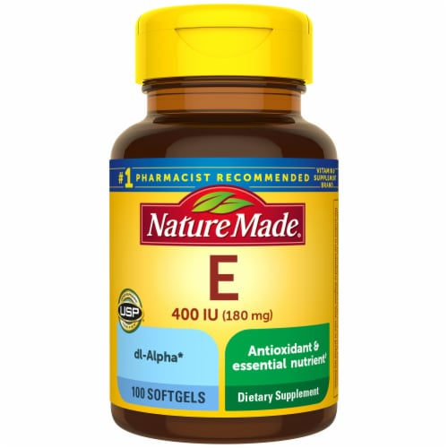 Nature Made Vitamin E Softgels 180mg Perspective: front