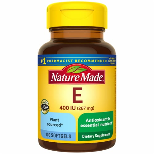 Nature Made Vitamin E Softgels 267mg Perspective: front