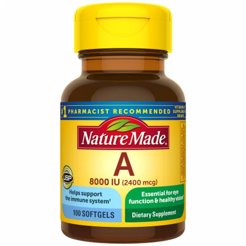 Nature Made Vitamin A Softgels 2400mcg Perspective: front