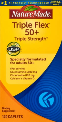 Nature Made Triple Flex 50+ Triple Strength Caplets Perspective: front