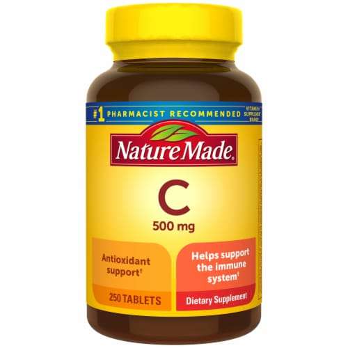 Nature Made Vitamin C 500 mg Caplets Perspective: front