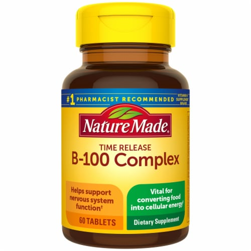 Nature Made B-100 Complex Timed Release Tablets Perspective: front