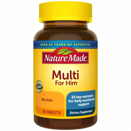 Nature Made Multi for Him Multivitamin Tablets Perspective: front