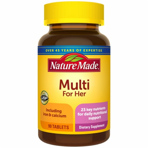 Nature Made® Multivitamin For Her Tablets Perspective: front
