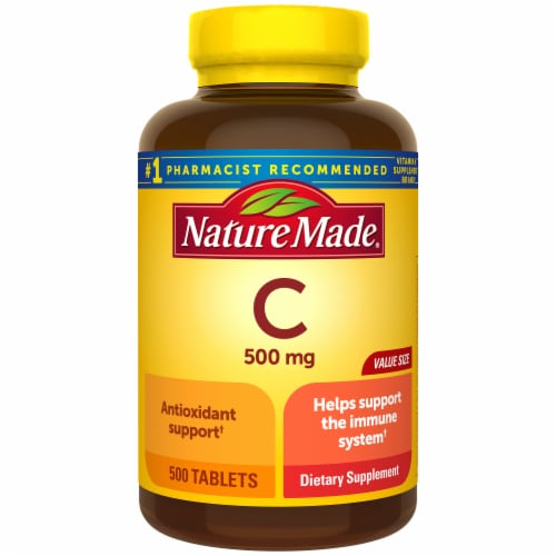 Nature Made Vitamin C Caplets 500mg Perspective: front