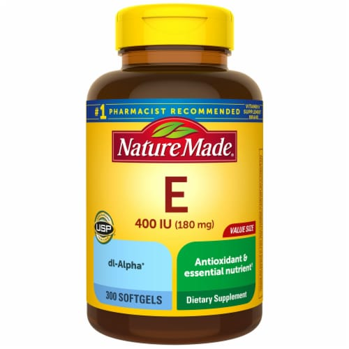Nature Made Vitamin E Softgels 180mg (Packaging May Vary) Perspective: front