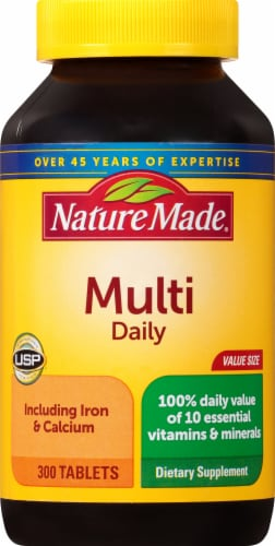 Nature Made Multivitamin Daily Tablets Perspective: front