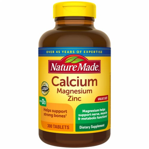 Nature Made Calcium Magnesium Zinc Tablets Perspective: front