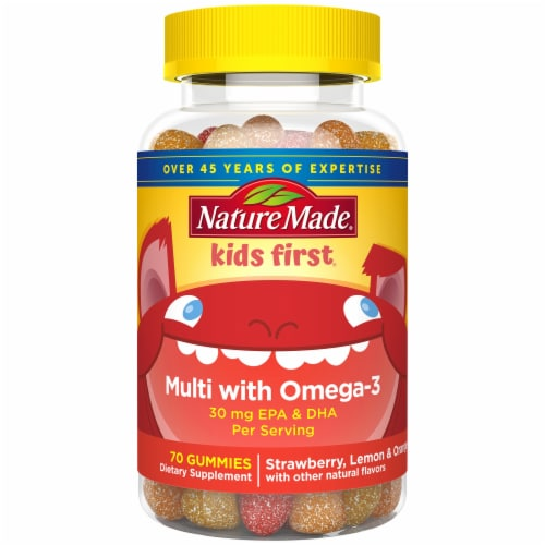 Nature Made Kids First Multivitamin with Omega-3 Gummies Perspective: front