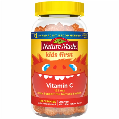 Nature Made Kids First Vitamin C Tangerine Gummies 125mg Perspective: front
