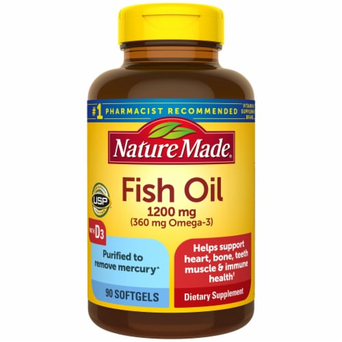 Nature Made Fish Oil Vitamin D Softgels Perspective: front