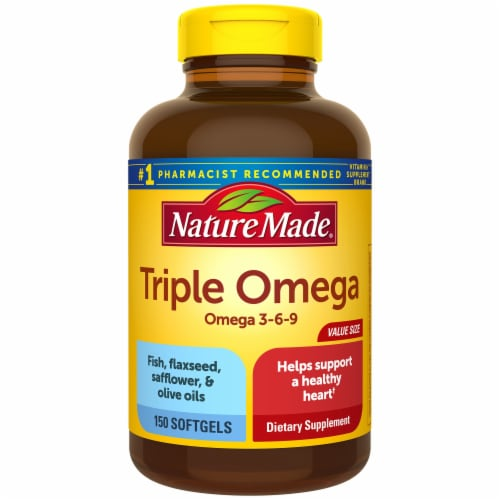 Nature Made Triple Omega 3-6-9 Softgels Perspective: front