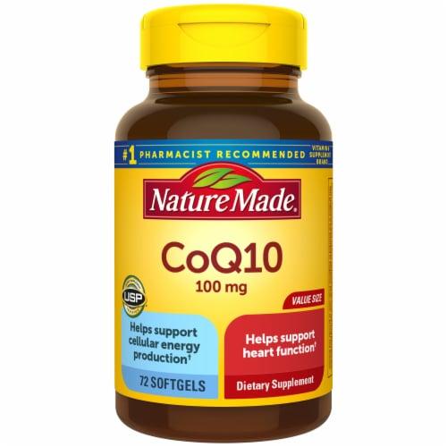 Nature Made CoQ10 Liquid Softgels 100mg 72 Count Perspective: front