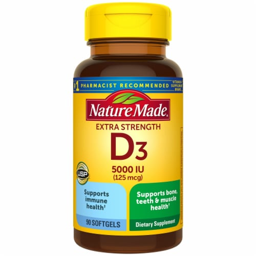 Nature Made Vitamin D3 Liquid Softgels 125mcg Perspective: front