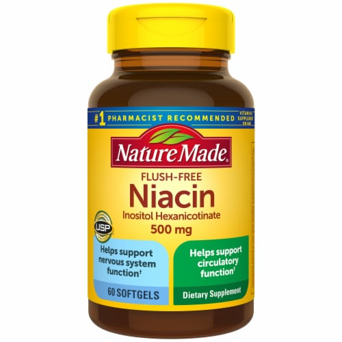 Nature Made Flush Free 500 mg Niacin Softgels Perspective: front