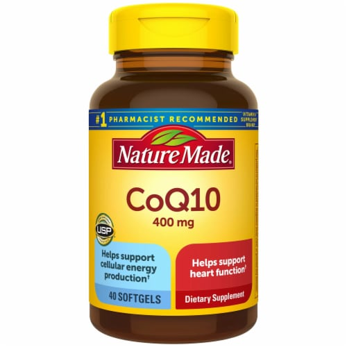 Nature Made CoQ10 Softgels 400mg 40 Count Perspective: front