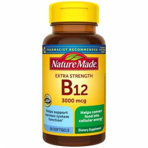 Nature Made B12 Extra Strength Softgels 3000mg Perspective: front