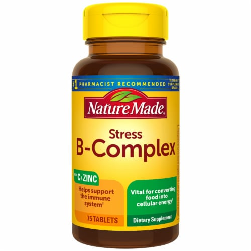Nature Made Stress B-Complex Tablets Perspective: front