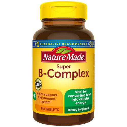 Nature Made Super B-Complex Tablets Perspective: front