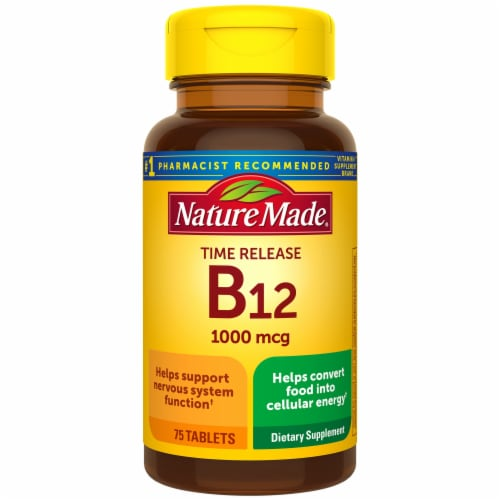 Nature Made B12 Time Release Tablets 1000mcg Perspective: front