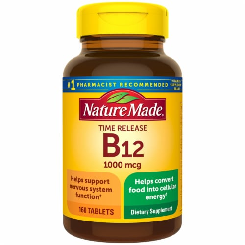 Nature Made Vitamin B12 Timed Release Tablets 1000mcg Perspective: front