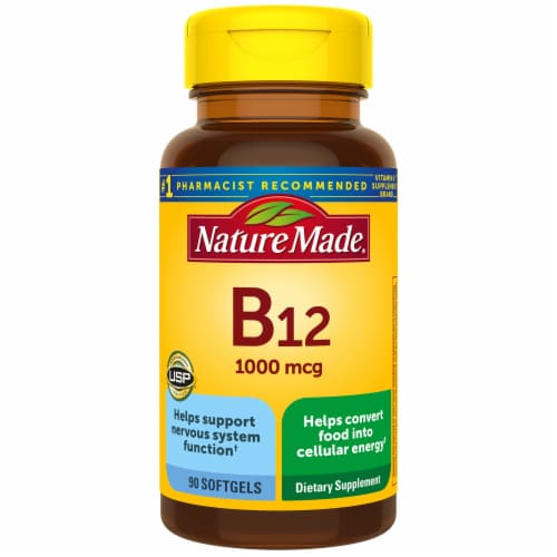 Nature Made B12 Vitamin Softgels 1000mcg Perspective: front