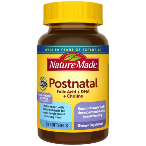 Nature Made Post Natal Multi+DHA Vitamin Softgels 200 mg Perspective: front