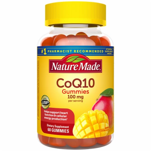 Nature Made CoQ10 Mango Flavored Adult Dietary Supplement Gummies Perspective: front