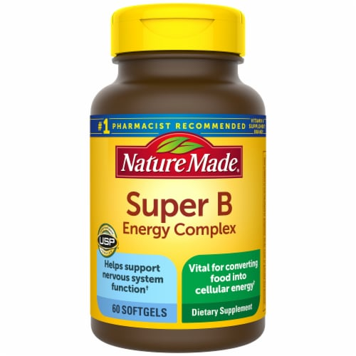 Nature Made Super B Energy Complex Softgels 60 Count Perspective: front