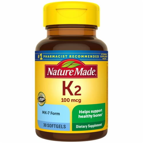 Nature Made® K2 Vitamin Softgels 100mcg Perspective: front