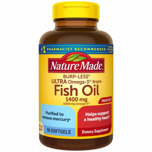 Nature Made Ultra Omega 3 Fish Oil Soft Gels 1400mg Perspective: front