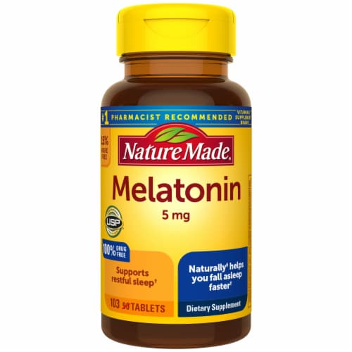 Nature Made Melatonin Tablets 5mg Perspective: front