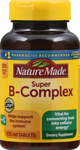 Nature Made Super B-Complex Tablets 175 Count Perspective: front