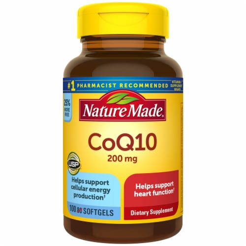 Nature Made CoQ10 Softgels 200mg Perspective: front