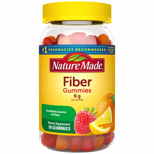 Nature Made® Assorted Fruit Flavored 6g Fiber Adult Gummies Perspective: front