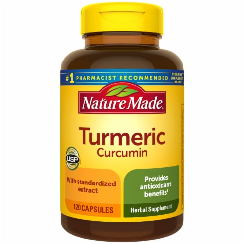 Nature Made Turmeric Curcumin Capsules 500mg 120 Count Perspective: front