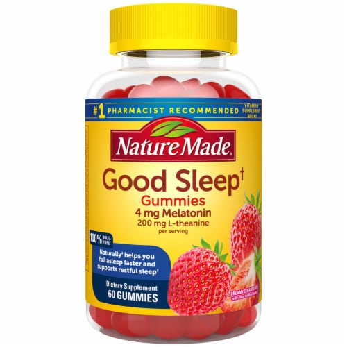 Nature Made Good Sleep Adult Gummies 60 Count Perspective: front