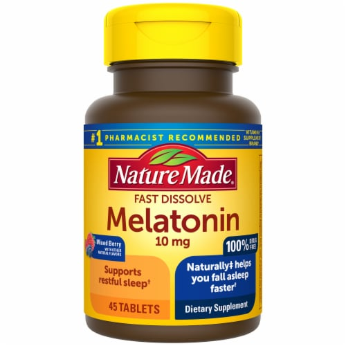Nature Made Melatonin Tablets 10mg Perspective: front