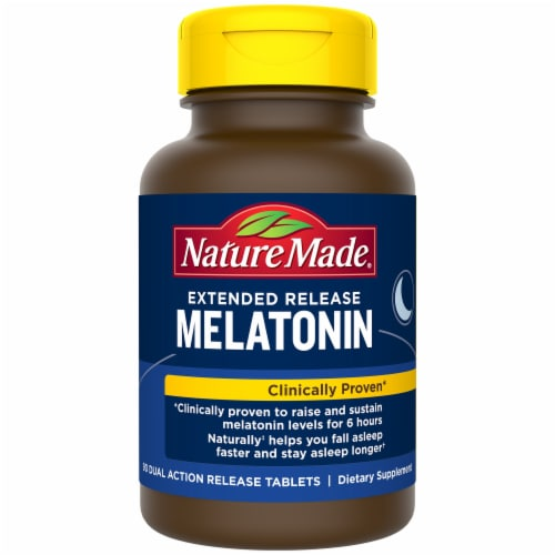 Nature Made® Extended Release Melatonin Tablets Perspective: front