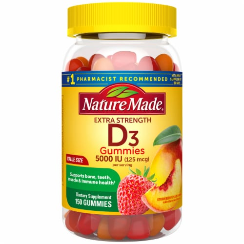 Nature Made Vitamin D Gummies 125mcg Perspective: front