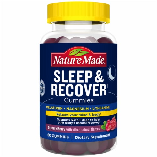 Nature Made Sleep & Recover Dreamy Berry Flavor Gummies Perspective: front