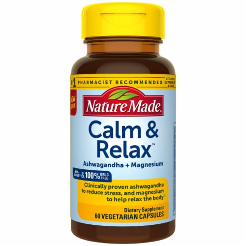 Nature Made Calm & Relax Veggie Capsules Perspective: front